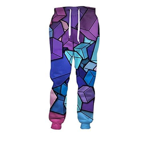 Pantaloni lunghi uomo 3d pantaloni lunghi blu fantasia 3d pantaloni larghi pantaloni larghi stampati allentati as shown m