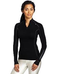 Helly Hansen W HH Warm Freeze 1/2 Zip - Camiseta para mujer, color negro (991 Black/Black Cuffs), talla L