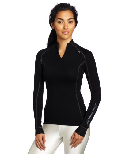 Helly Hansen W HH Warm Freeze 1/2 Zip - Camiseta para mujer, color negro (991 Black/Black Cuffs), talla M