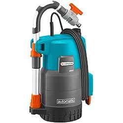GARDENA Pompe pour collecteur d'eau de pluie 4000/2 automatic Comfort: pompe immergée, débit élevé 4000 l/h, puissante avec fonction automatique, tube télescopique réglable (1742-20)