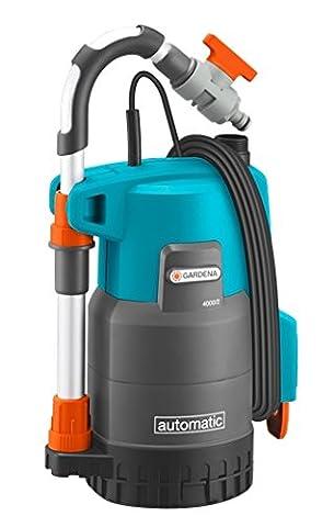Gardena 174220 Pompe immergée pour collecteur d'eau de pluie 4000/2 automatique Comfort, Orange