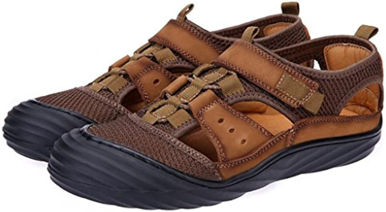 GAOLIXIA Sandalias huecas de los hombres Zapatos ocasionales respirables de verano Zapatos deportivos Zapatos