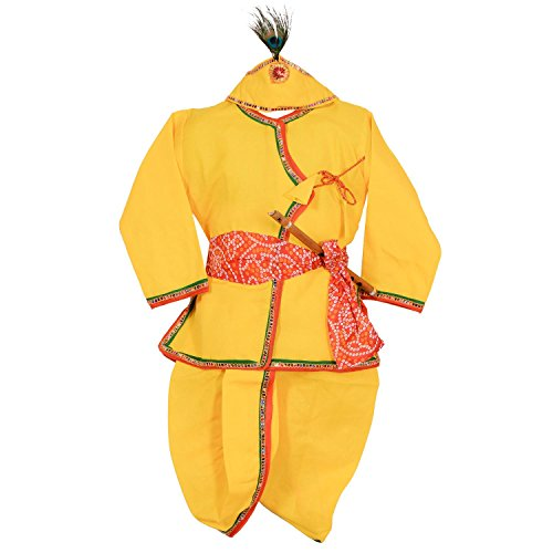 Ahhaaaa Yellow Krishna Dhoti Kurta For...