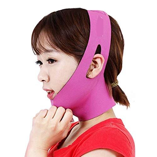 SGMYMX Gesichtsformgürtel Gesichtsliftingmaske, Schönheitsmaske Facelifting Gesichtsreduzierung Doppelkinnverband für Frauen und Männer Kinnbinde (Color : A)