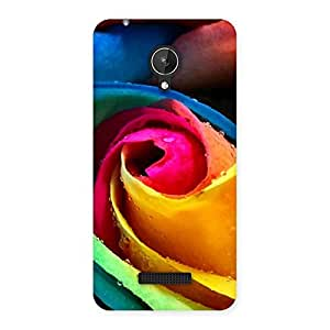 Cute Rose Droplets Multicolor Back Case Cover for Micromax Canvas Spark Q380