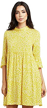 Ditsy Floral Print High Neck Tired Women's D