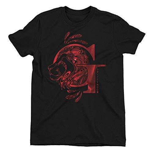 Harry Potter Gryffindor Lion Black Ladies T-Shirt XX-Large