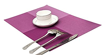 Butterme Set of 4 Anti-slip Heat-proof PVC Table Mats PlaceMats Protector Dining Decoration