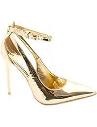 Elara Punta Pumps | moderna High Heels | Cómodo barniz stilettos
