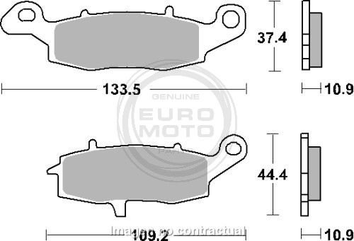 Preisvergleich Produktbild SBS Tonabnehmer Bremsbeläge Hinten Suzuki Intruder 1600 [p886ls]