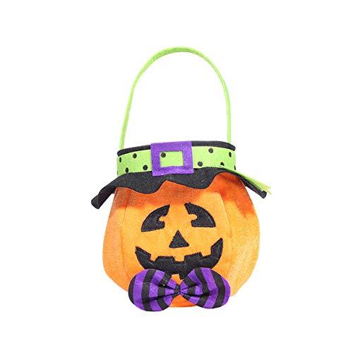 (SDGDFXCHN Halloween Süßigkeitstasche Cartoon Kürbis Tasche Süßes Oder Saures Taschen Kinder Goodie Taschen Halloween Party Favors)