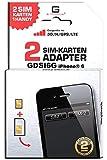 G-TELWARE GDSI6G/ CARBONSCHWARZ/ 2 JAHRE Herstellergarantie!/ Mehrsprachig/Dual SIM Adapter kompatibel mit iPhone 6 UMTS/3G/HSDPA/GPS/LTE