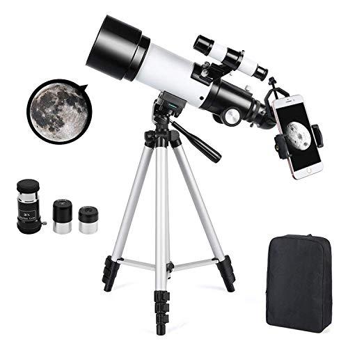 Telescopio astronómico Zoom HD Telescopio Espacial monocular al Aire Libre con trípode 360/50 mm para niños Principiantes - Ranipobo