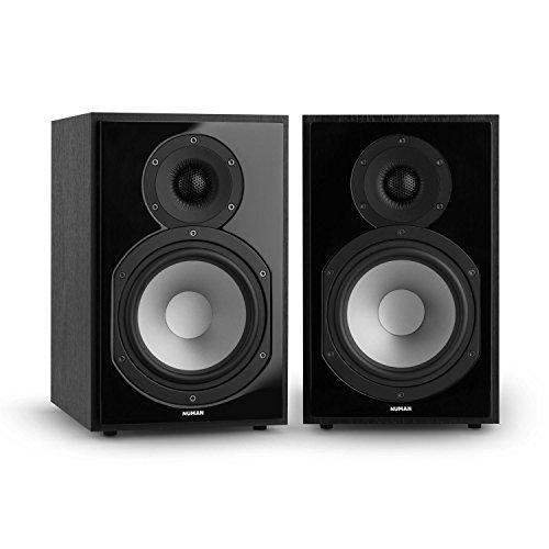 NUMAN Reference 802 • Regal-Lautsprecher • Lautsprecher-Boxen • HiFi-Boxen • Lautsprecher-Paar • high-end Boxen • 2-Wege-System • Spitzenleistung 120 Watt • Impedanz 4 Ohm • schwarz