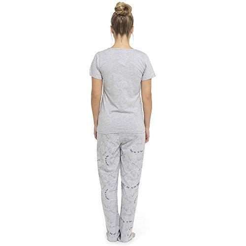 Tom Franks Damen Schlafanzug Grau