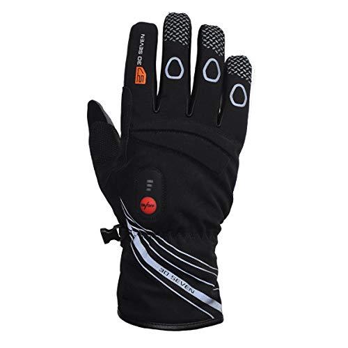Guantes calefactables para Bicicleta de carreras, color negro, tamaño 9 (M)