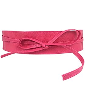 Chen Rui (TM) Cinturón de Cintura Cuero PU Mujeres Faja de Cintura para Vestido Camisas Faldas 2 Cinturónes