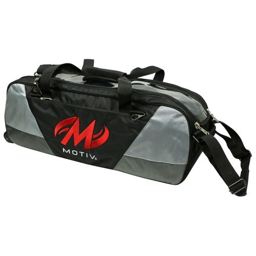 Preisvergleich Produktbild Motiv und Ballistix 3Ball Tote Bowling Bag Schwarz/Grau/Rot
