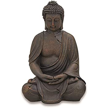 dszapaci buddha statue gro 65cm sitzend deko figur f r wohnzimmer skulptur xl. Black Bedroom Furniture Sets. Home Design Ideas
