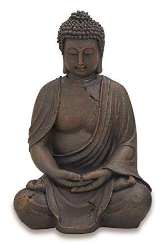 Deko-Buddha sitzend, ca. 40cm hoch in Braun