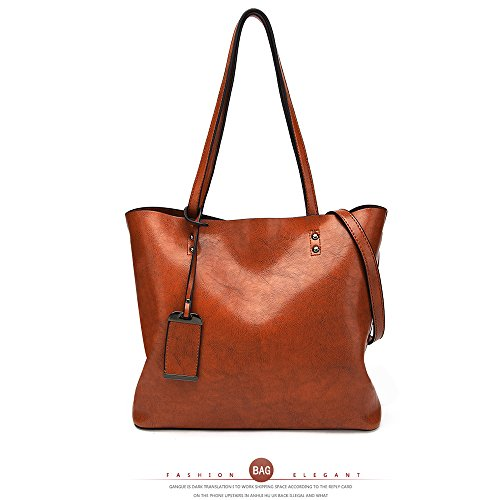 ANNE Damen Tote-Tasche Shopper (Deep red) B-Brown