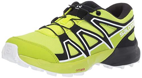 Salomon Kinder Speedcross J, Trailrunning-Schuhe, grün (acid lime / lime green / white), Größe 31 (Lime Grün Schuhe)