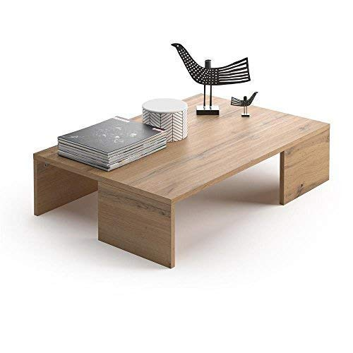 Mobili Fiver, Table Basse, Rachele, Bois Rustique, 90 x 60 x 21 cm, Mélaminé, Made in Italy