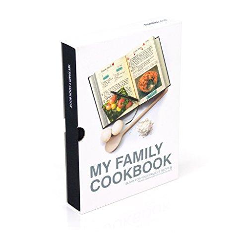 Suck UK My Family Recipe Book and Cooking Journal / Kochbuch für Familienrezepte und Kochtagebuch - mit Blanko Seiten zum aufzeichnen und archivieren Ihrer eigenen Rezepte - \nSchwarz