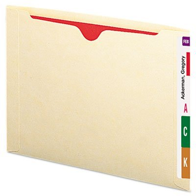 Tab Datei-jacke End (SMEAD 100% recyceltem Ende Tab Datei Jacke, verstärkte gerade geschnittene Tab, flat-no Expansion, Letter Size, Manila, 50pro Box (76530))