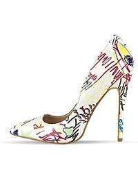 Scarpe Col Donna Tacco Colorate Amazon it 8 Cm 12 57HT0qxw