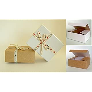 Pack of 25 x Self Assembly Gift Box (Code#C) Cardboard Flat Pack Self Assembly Gift Box suitable for Chocolates, Jewellery, Small Gifts.
