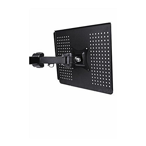 große Notebook / Tablet / Laptop - Halterung für alle VESA Monitorhalterungen / 35,5 x 30,0 cm / VESA 100&100 / Tischhalterung / LCD TFT Display Ständer