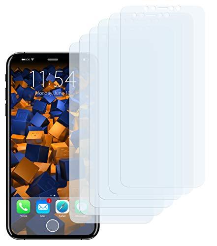 mumbi Schutzfolie kompatibel mit Apple iPhone X Folie, iPhone XS Folie klar, Displayschutzfolie (6X)