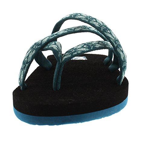 Teva Olowahu W's, Tongs Femme Bleu (Hazel Blue 868)