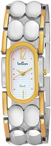Britton Analog Silver Dial Women's Watch - BR-LR035-SLV