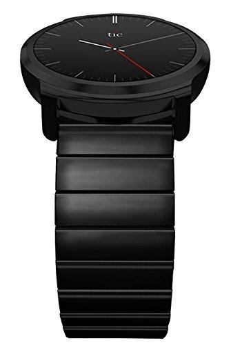 Pour Ticwatch E & Ticwatch 2 Band Strap, Bande de Montre 20mm, Libération Rapide, Réglable Bande en Acier Inoxydable Premium, Bracelet Smartwatch pour Montre 20mm, Par Logity.