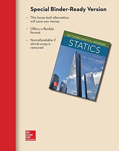 Loose Leaf for Vector Mechanics for Engineers: Statics by Ferdinand Beer (2015-01-23)