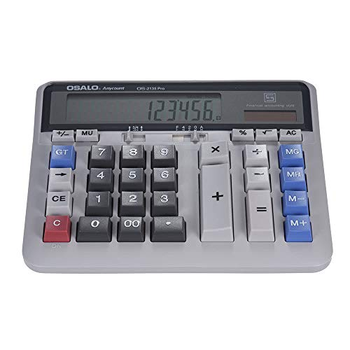 Serui Großer Computer Elektronischer Taschenrechner Zähler Solar & Batterieleistung 12-stelliges Display Multifunktionale Großtaste für das Business Office Schule-Rechnen