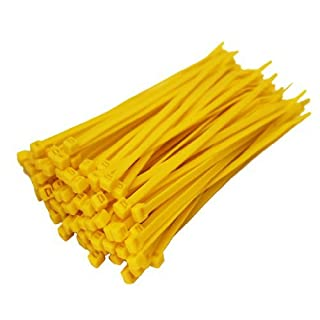 All Trade Direct 500 X Yellow Cable Ties 100Mm X 2.5Mm Zip Tie Wraps Bases All Sizes Stocked by All Trade Direct