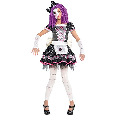 amscan 999685 Kinderkostüm Horror Puppe, Mehrfarbig, 104/116 cm (Dress Doll Kostüm Up)