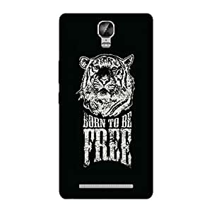 Wrapit Animal Born to be free Hard Back Case Cover For Gionee M5 plus