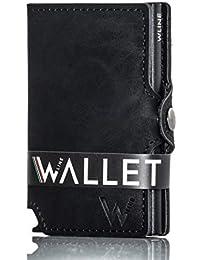 b8e4b00570 WLine Porta Carte di Credito e Banconote con Blocco RFID/NFC in Pelle PU  Vegan