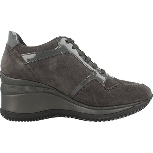 Geox Donna Regina A, Sneaker, Donna Anthracite/Grey
