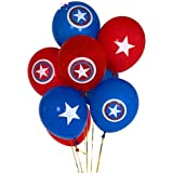 Partysanthe Captain America Avenger Logo Theme Latex Balloon (Set of 10)