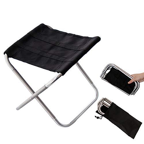 Qiy Klappstuhl Im Freien/Licht Portable Picknick Stuhl Aluminium Camping Hocker Reise Sitz,Silver