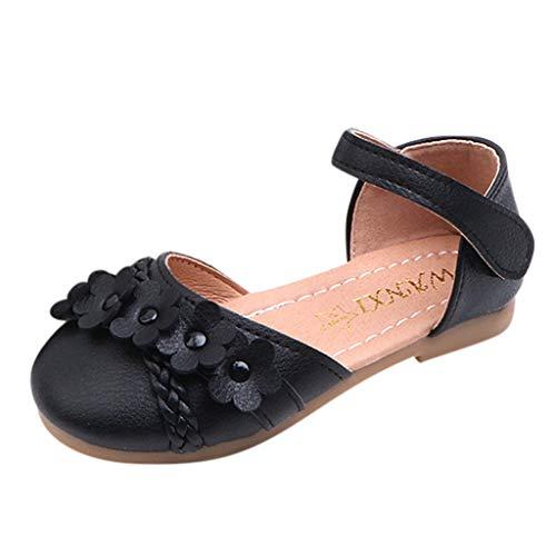 BURFLY Mädchen Blume gewebt weichen Boden Prinzessin Schuhe Sandalen weichen Boden Prinzessin Schuhe Tanzschuhe Strandschuhe