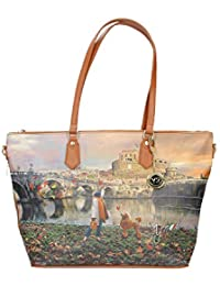 Borsa Shopping Bag Zip L Tan Gold Roma Joyful Wind K 397 00129213f12