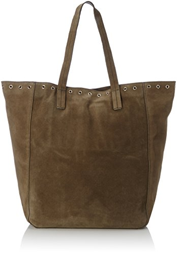 PIECES Damen Pcneema Suede Shopper Schultertasche, 13 x 37 x 49 cm Grün (Dark Olive)