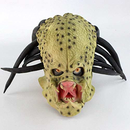 Alien Mann Kostüm Spider - xikaiai Lustige Latex Halloween Horror Party Maske Fancy Fool'S Day Maskerade Gruseliges Gummiband Halbes Gesicht Alien Masken Predator