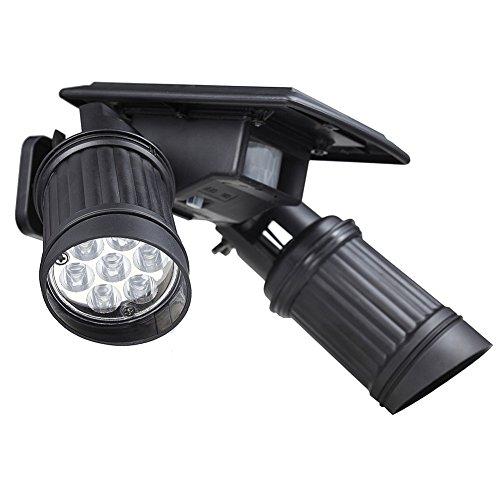 Preisvergleich Produktbild Solar LED Strahler Außenleuchte mit Bewegungsmelder und Dämmerungssensor, Wandleuchte schwenkbar, Wasserdicht, perfekt für Eingang Garten Terrasse Treppen Balkon